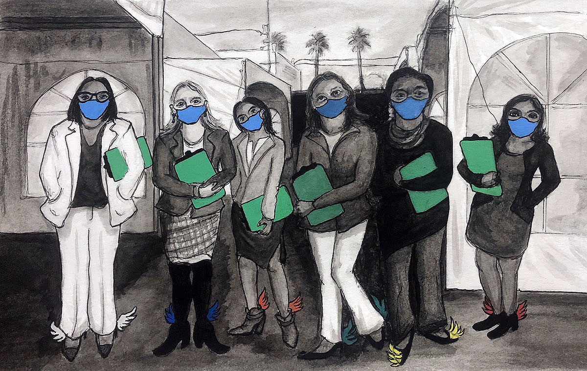 Mission local illustration of UCSF women doctors